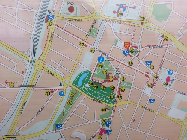 Mapa Kielc