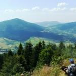 Beskid Wyspowy - widok z góry Łopień