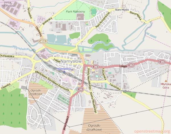 Namysłów Mapa