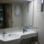 Łazienka w kajucie na promie Skania