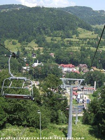 Szczawnica - widok z kolejki górskiej na Palenicę