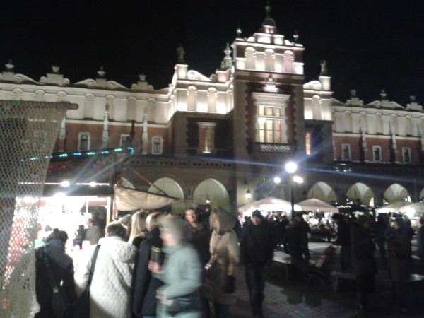 Kraków Zima Sukiennice
