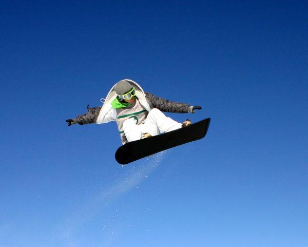 Stock photo Snowboard Jump Series 2