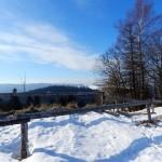 Widok ze schroniska na Maciejowej