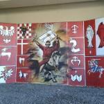 Mural Bitwa pod Grunwaldem w Krakowie