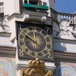 Koziołki na szczycie ratusza w Poznaniu